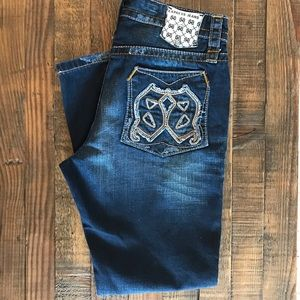 Men's Express Rocco Slim Boot Jeans 34x30